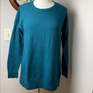 LOFT TUNIC SWEATER IN TEAL! SZ MED